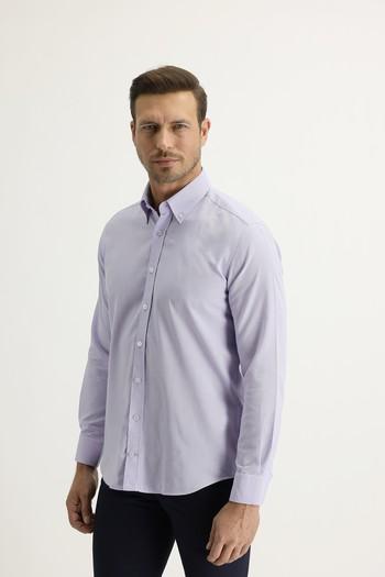 Erkek Giyim - Uzun Kol Slim Fit Oxford Gömlek
