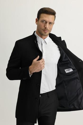 Erkek Giyim - Düz Kaban