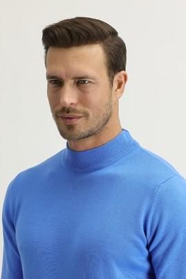 Erkek Giyim - Mavi S Beden Bato Yaka Regular Fit Triko Kazak