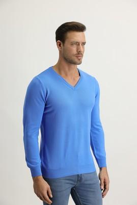 Erkek Giyim - Mavi 3X Beden V Yaka Regular Fit Triko Kazak