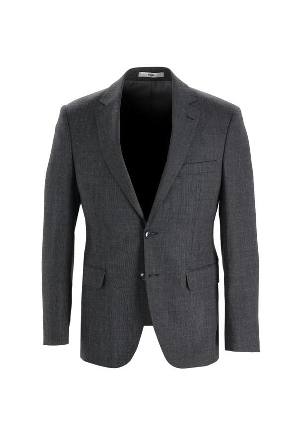 Slim Fit Yünlü Kuşgözü Takım Elbise