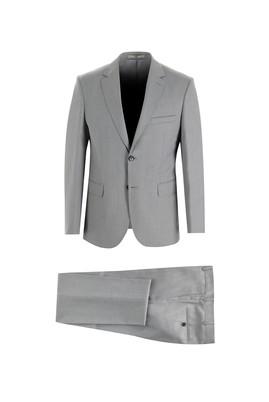 Erkek Giyim - AÇIK GRİ 46 Beden Slim Fit Kuşgözü Takım Elbise
