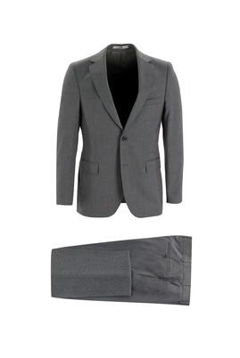 Erkek Giyim - KOYU MARENGO 54 Beden Klasik Kuşgözü Takım Elbise