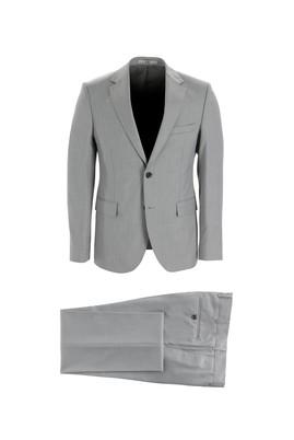 Erkek Giyim - AÇIK GRİ 48 Beden Slim Fit Kuşgözü Takım Elbise