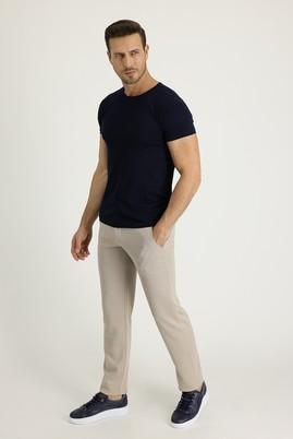 Erkek Giyim - ORTA BEJ 50 Beden Spor Beli Lastikli İpli Pantolon