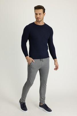 Erkek Giyim - SİYAH XL Beden Slim Fit Beli Lastikli İpli Jogger Pantolon