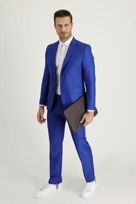 Erkek Giyim - Mavi 48 Beden Slim Fit Takım Elbise
