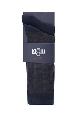 Erkek Giyim - AÇIK KAHVE 42-45 Beden 2'li Desenli Çorap