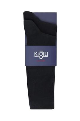 Erkek Giyim - SİYAH 42-45 Beden 2'li Düz Çorap