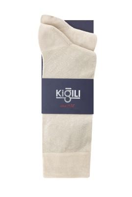 Erkek Giyim - AÇIK BEJ 42-45 Beden 2'li Desenli Çorap