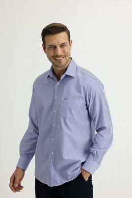 Erkek Giyim - MAVİ L Beden Uzun Kol Regular Fit Çizgili Gömlek