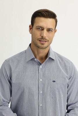 Erkek Giyim - AÇIK LACİVERT XL Beden Uzun Kol Regular Fit Ekose Gömlek