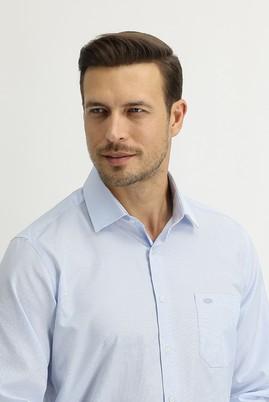 Erkek Giyim - AÇIK MAVİ M Beden Uzun Kol Regular Fit Ekose Gömlek