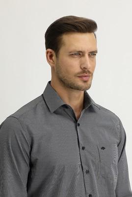 Erkek Giyim - SİYAH M Beden Uzun Kol Regular Fit Ekose Gömlek