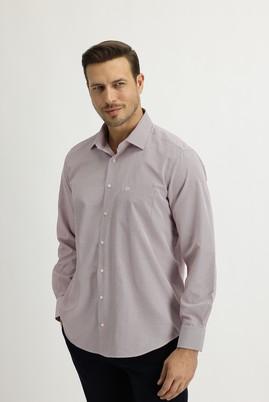 Erkek Giyim - AÇIK BORDO XL Beden Uzun Kol Regular Fit Ekose Gömlek