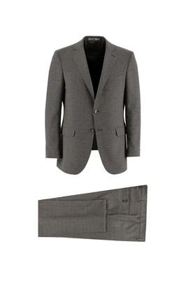 Erkek Giyim - ORTA KAHVE 48 Beden Klasik Kuşgözü Takım Elbise