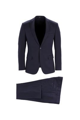 Erkek Giyim - KOYU LACİVERT 52 Beden Klasik Takım Elbise