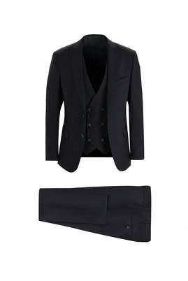 Erkek Giyim - SİYAH 54 Beden Klasik Yelekli Takım Elbise