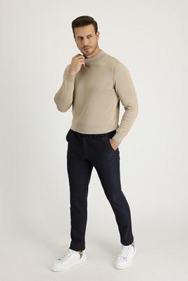 Erkek Giyim - KOYU LACİVERT 50 Beden Slim Fit Spor Pantolon