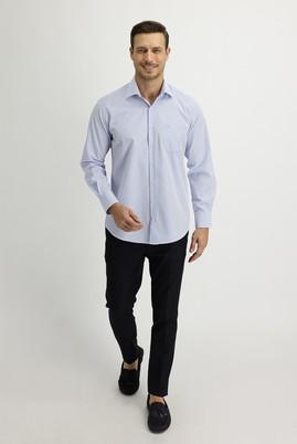 Erkek Giyim - SİYAH LACİVERT 54 Beden Klasik Pantolon