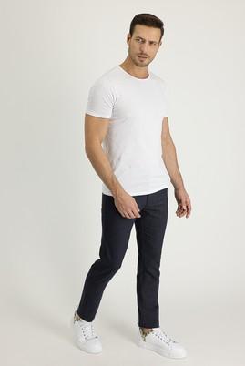 Erkek Giyim - KOYU LACİVERT 58 Beden Slim Fit Spor Pantolon