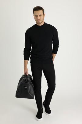 Erkek Giyim - SİYAH 46 Beden Süper Slim Fit Spor Pantolon