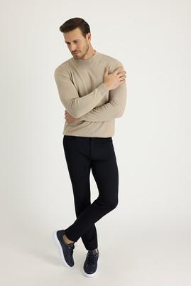 Erkek Giyim - KOYU LACİVERT 50 Beden Süper Slim Fit Spor Pantolon