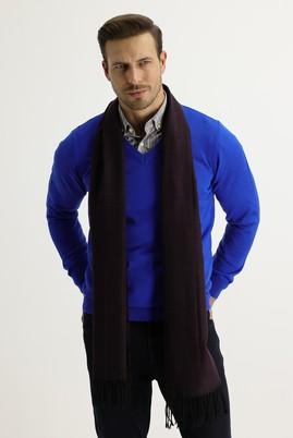 Erkek Giyim - AÇIK BORDO  Beden Desenli Atkı