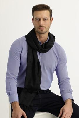 Erkek Giyim - SİYAH  Beden Desenli Atkı