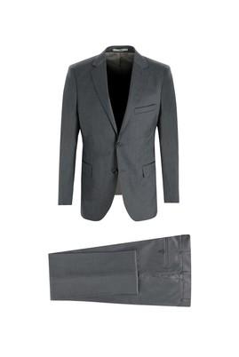 Erkek Giyim - ORTA GRİ 52 Beden Klasik Kuşgözü Takım Elbise