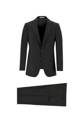 Erkek Giyim - SİYAH 50 Beden Yünlü Klasik Takım Elbise