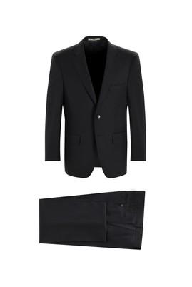 Erkek Giyim - SİYAH 52 Beden Slim Fit Klasik Takım Elbise