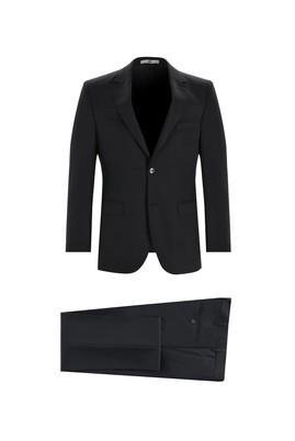 Erkek Giyim - SİYAH 46 Beden Slim Fit Klasik Takım Elbise