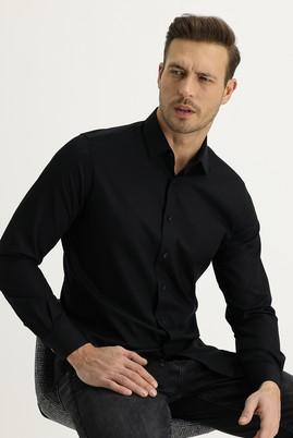 Erkek Giyim - SİYAH S Beden Uzun Kol Slim Fit Gömlek