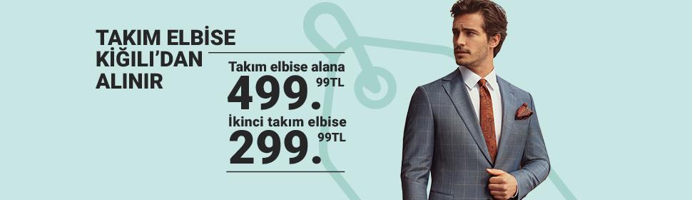 Takım Elbise Kampanyası - 2. Takım Elbise 299,99 TL