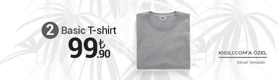 2 Basic Tişört 99,90 TL