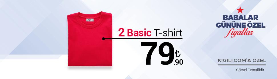 2 Basic Tişört 79,90 TL