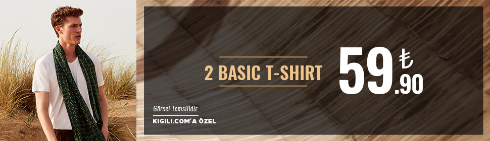 2 Basic Tişört 59,90 TL