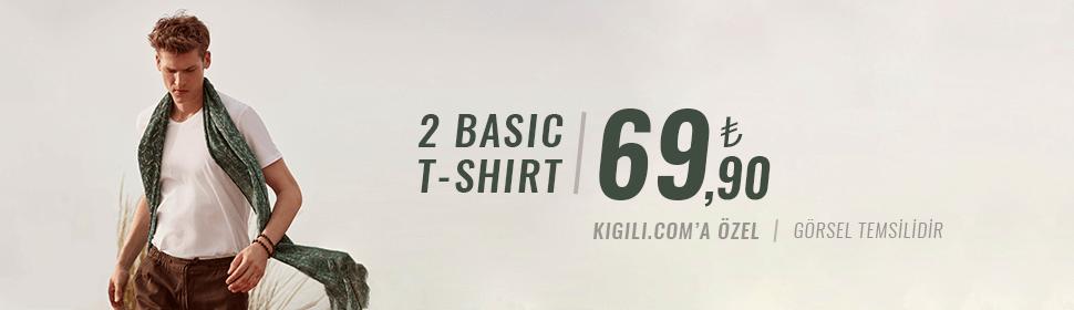 2 Basic Tişört 69,90 TL